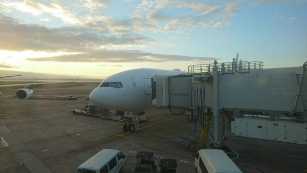 Air New Zealand 777 aircraft with WiFi radome