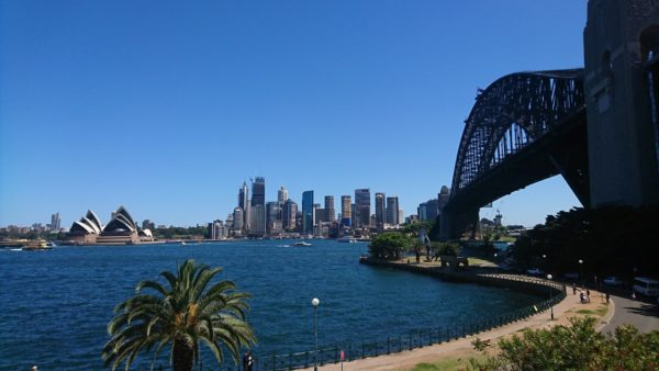 Stunning image of the Sydney harbour bridge, City and Opera House taken from Kirribilli